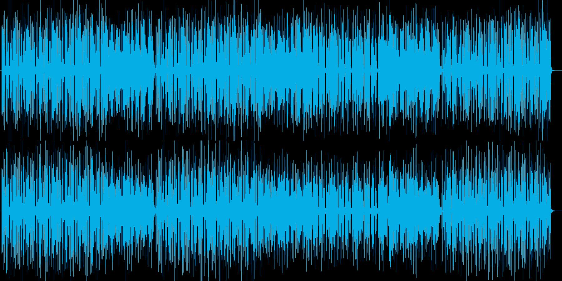 激しく躍動感のあるシンセポップの再生済みの波形