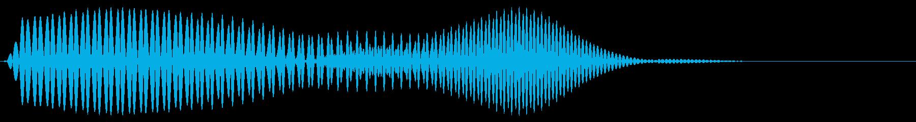 レトロでちょっぴり可愛らしいボタン音01の再生済みの波形