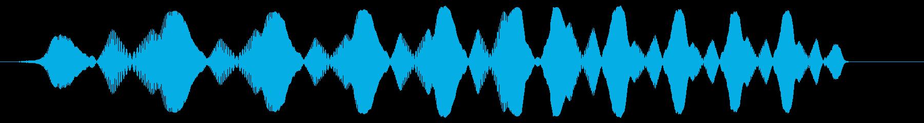 ぴよよよよ〜ん(コミカルなジャンプ音)の再生済みの波形