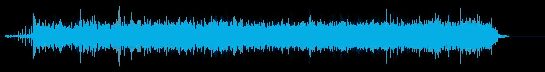 複葉ステアマン飛行機の再生済みの波形