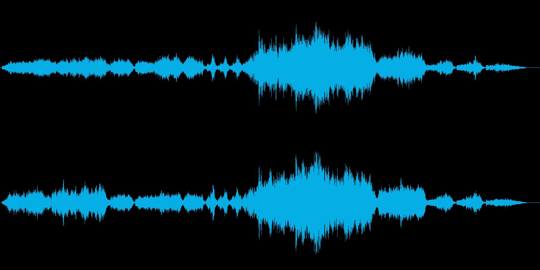 ゆったりと雄大な宇宙のオーケストラの再生済みの波形