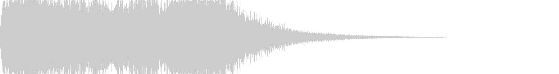 重厚感のあるファンファーレ03の未再生の波形