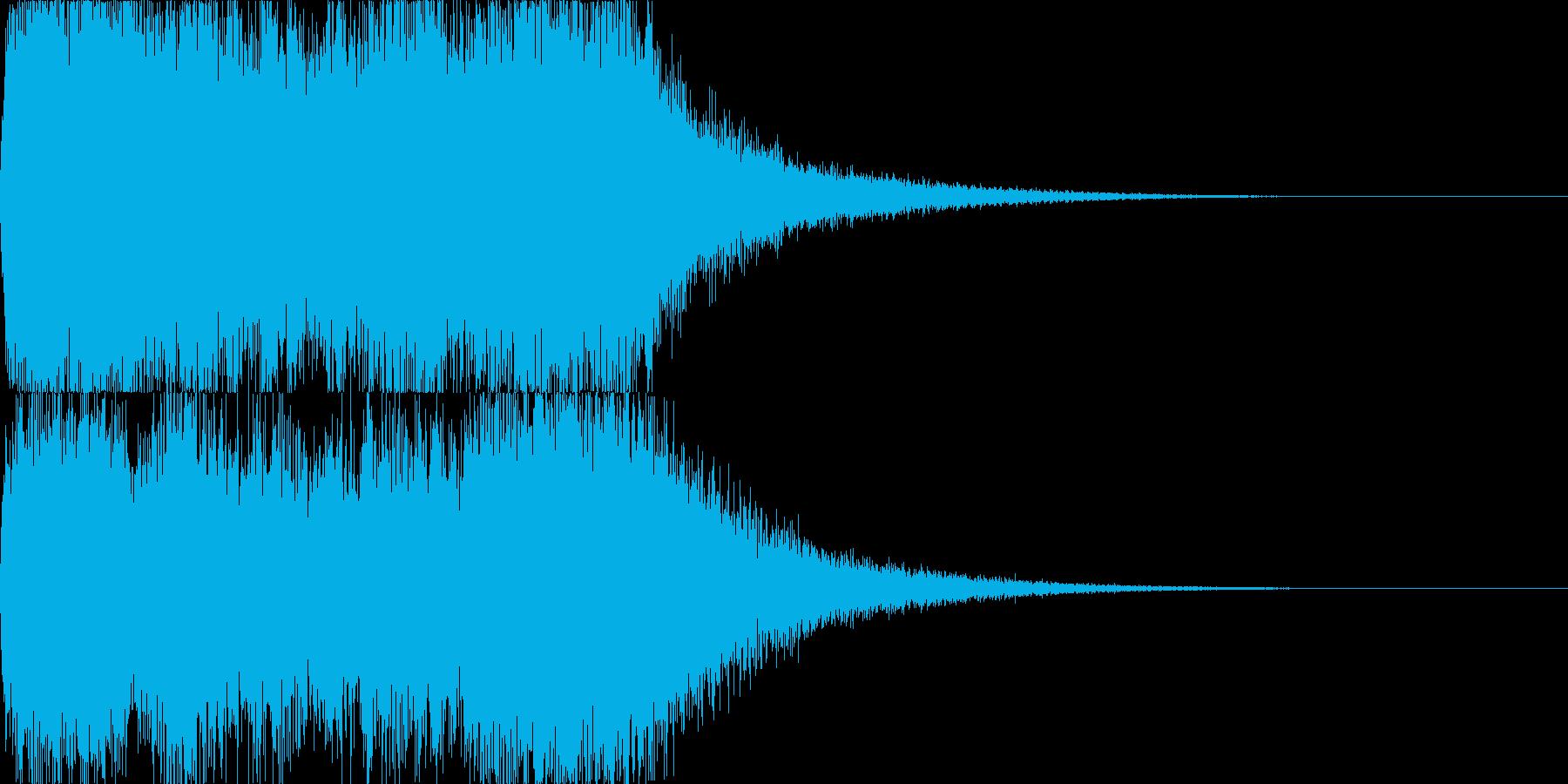 重厚感のあるファンファーレ03の再生済みの波形