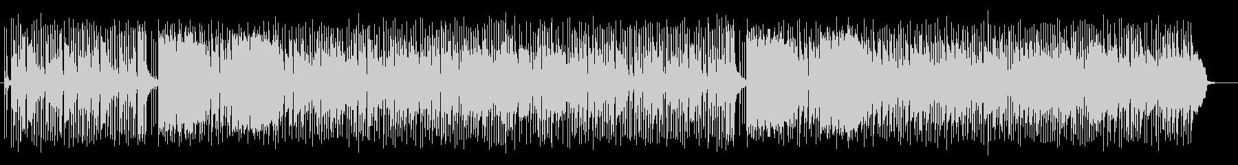 可愛いいスローテンポのシンセサイザーの曲の未再生の波形