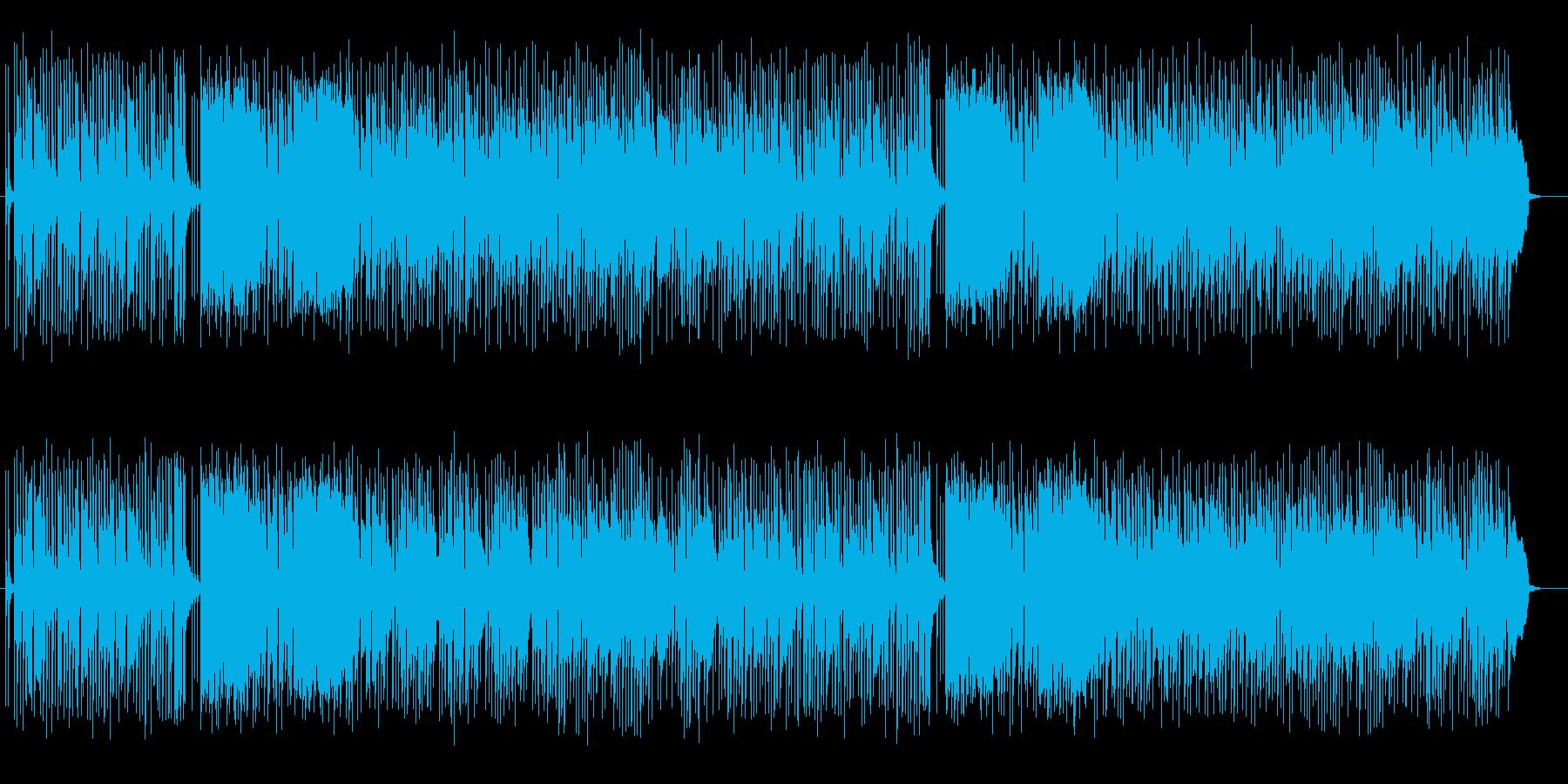可愛いいスローテンポのシンセサイザーの曲の再生済みの波形