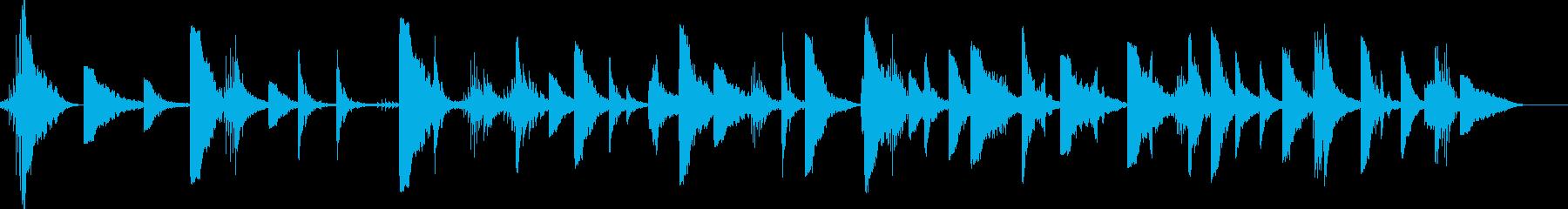 怖い太鼓やパーカッション、1分以上。の再生済みの波形
