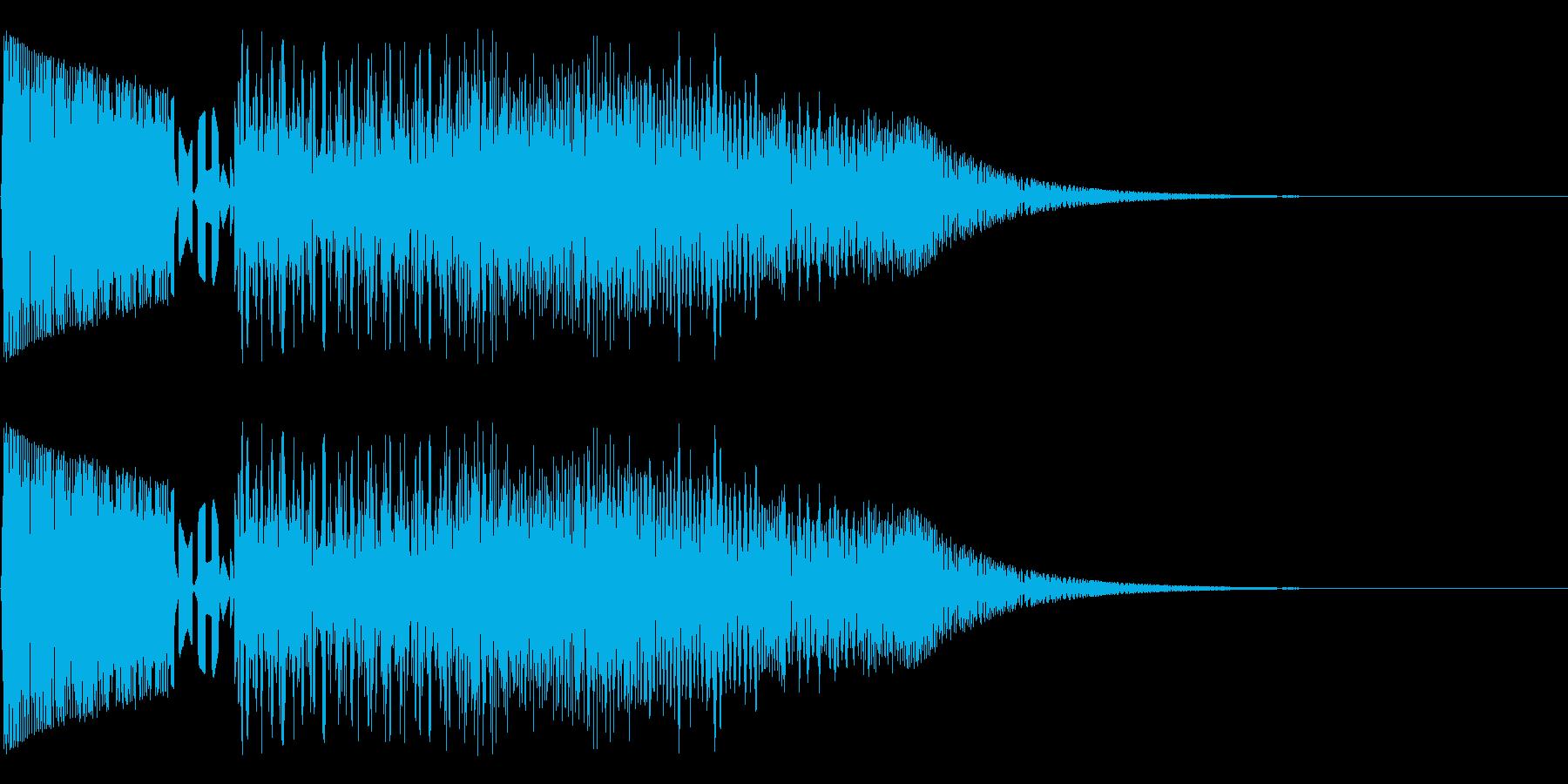 バシャッ03(水・液体系のアクション音)の再生済みの波形