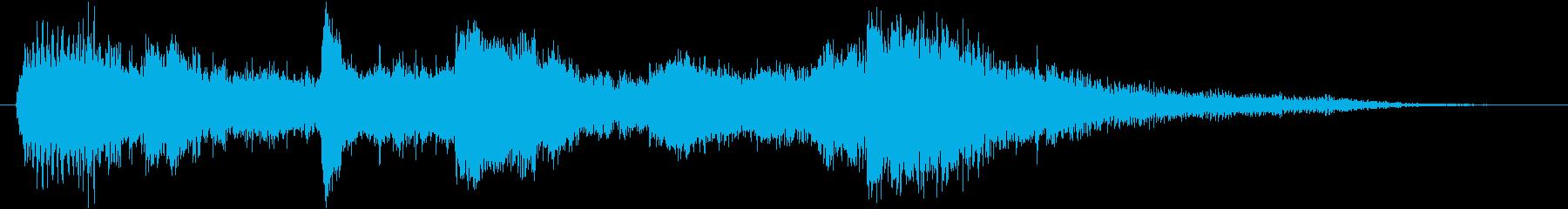 ホラー、サスペンス用ジングル・ロゴの再生済みの波形