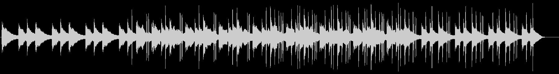静かなピアノのローファイヒップホップの未再生の波形