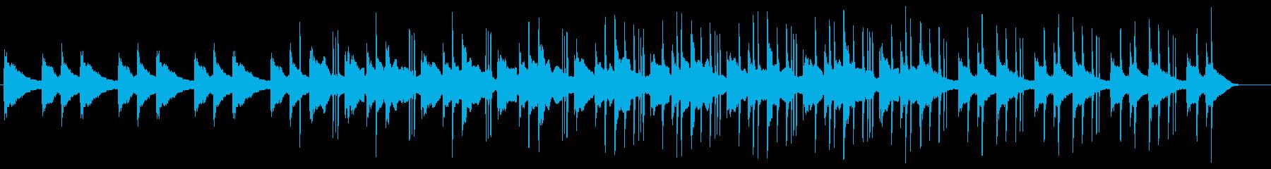 静かなピアノのローファイヒップホップの再生済みの波形