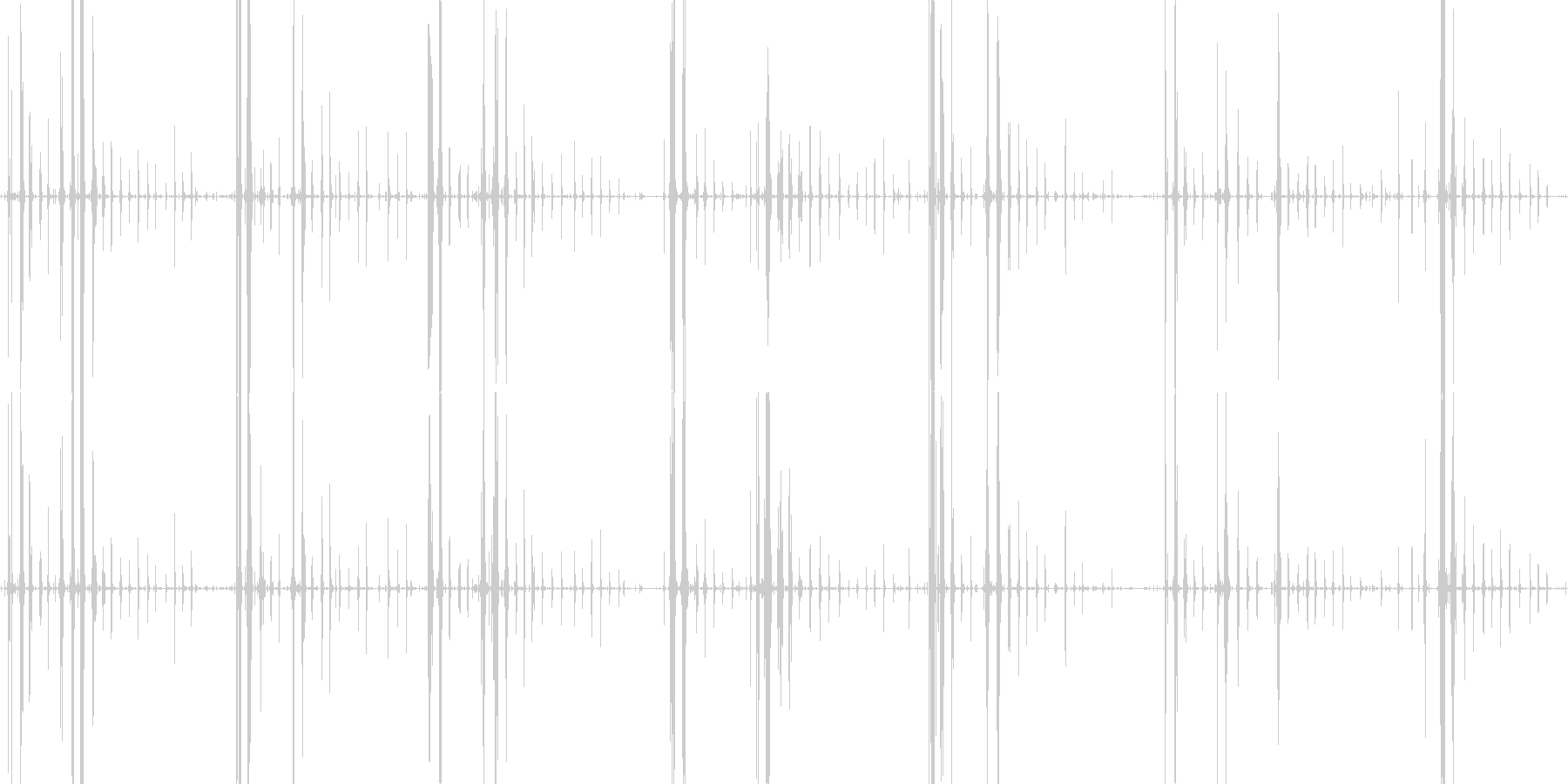琥珀糖を食べるガリガリサクサクという音の未再生の波形