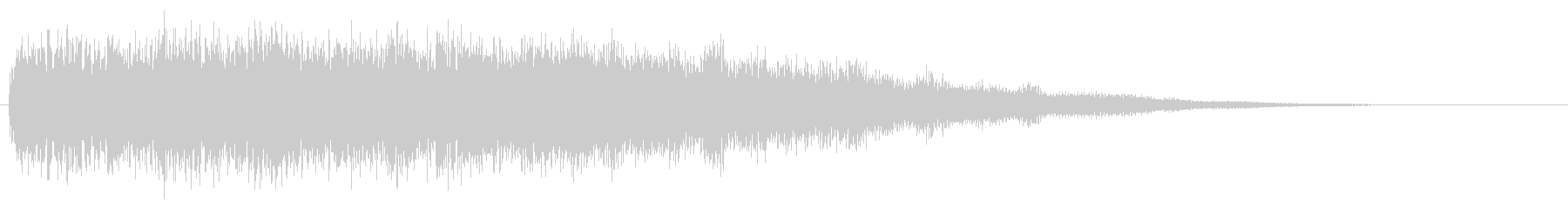 ハデめな場面転換の音 シーン切り替え音の未再生の波形