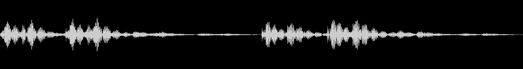 緊張している時の心臓の音の未再生の波形