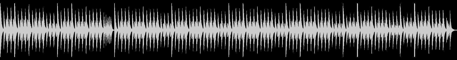 木琴(マリンバ)のシンプルなループ曲の未再生の波形
