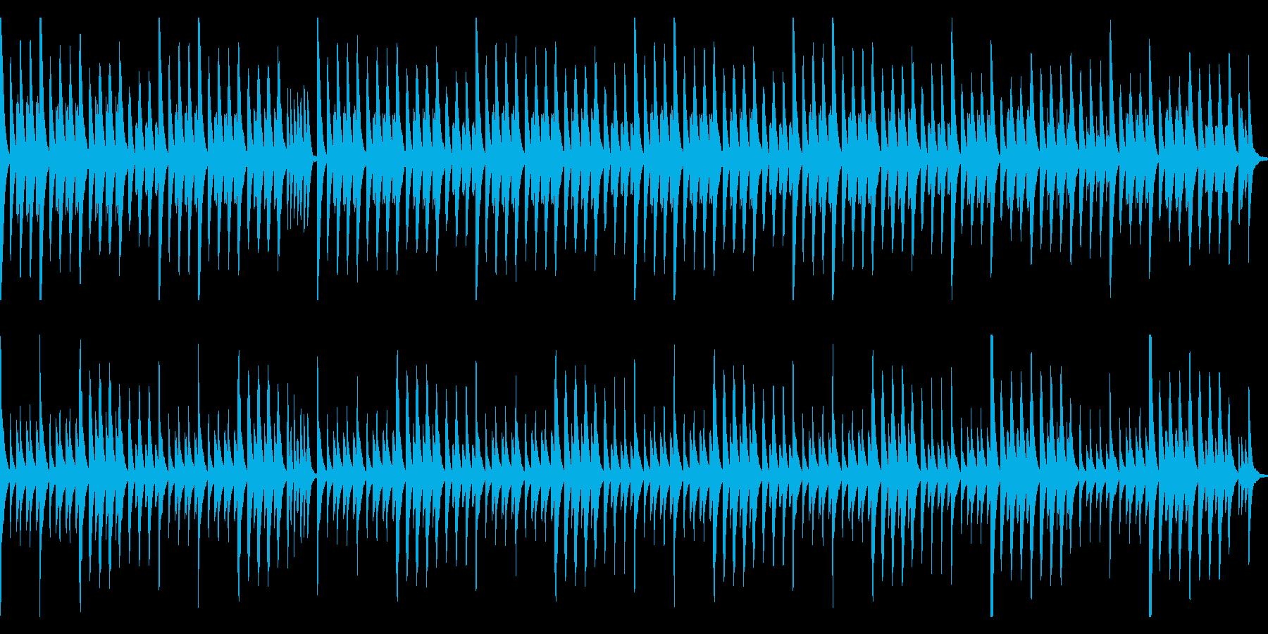 木琴(マリンバ)のシンプルなループ曲の再生済みの波形