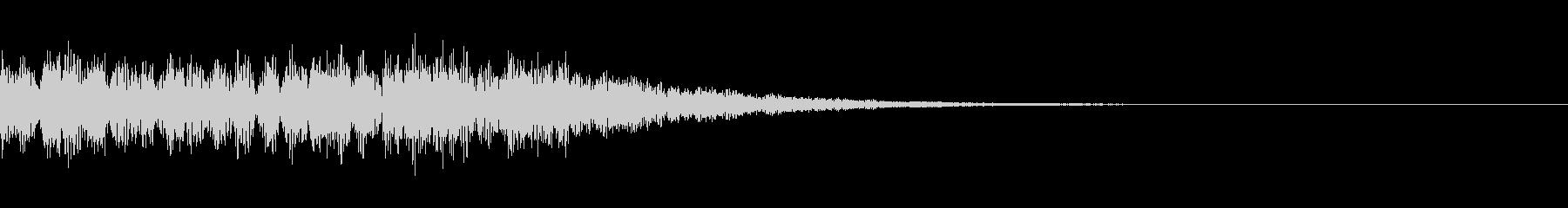 ホラーな決定音B07の未再生の波形