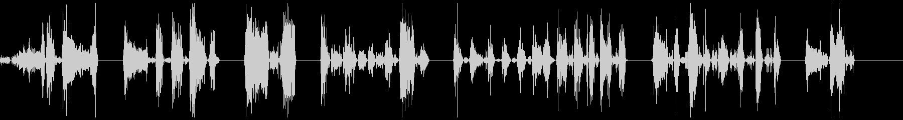 ゾンビの悪質な攻撃1-7の未再生の波形