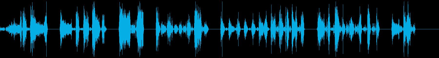 ゾンビの悪質な攻撃1-7の再生済みの波形
