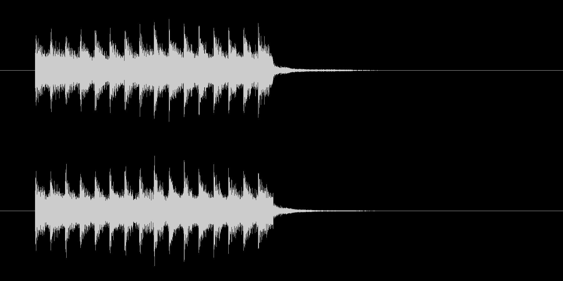 勢いのあるドラムによるロックの未再生の波形