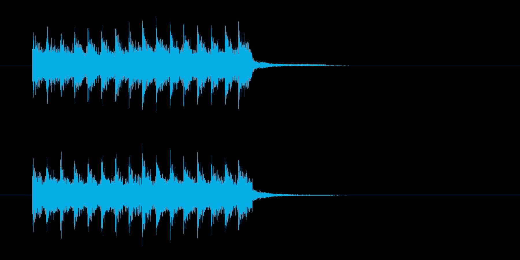 勢いのあるドラムによるロックの再生済みの波形
