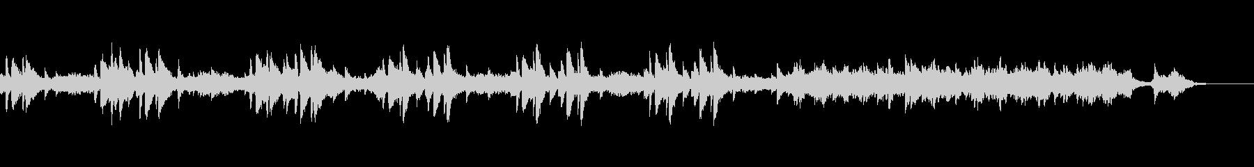 不思議なシーンの落ち着いたBGMの未再生の波形