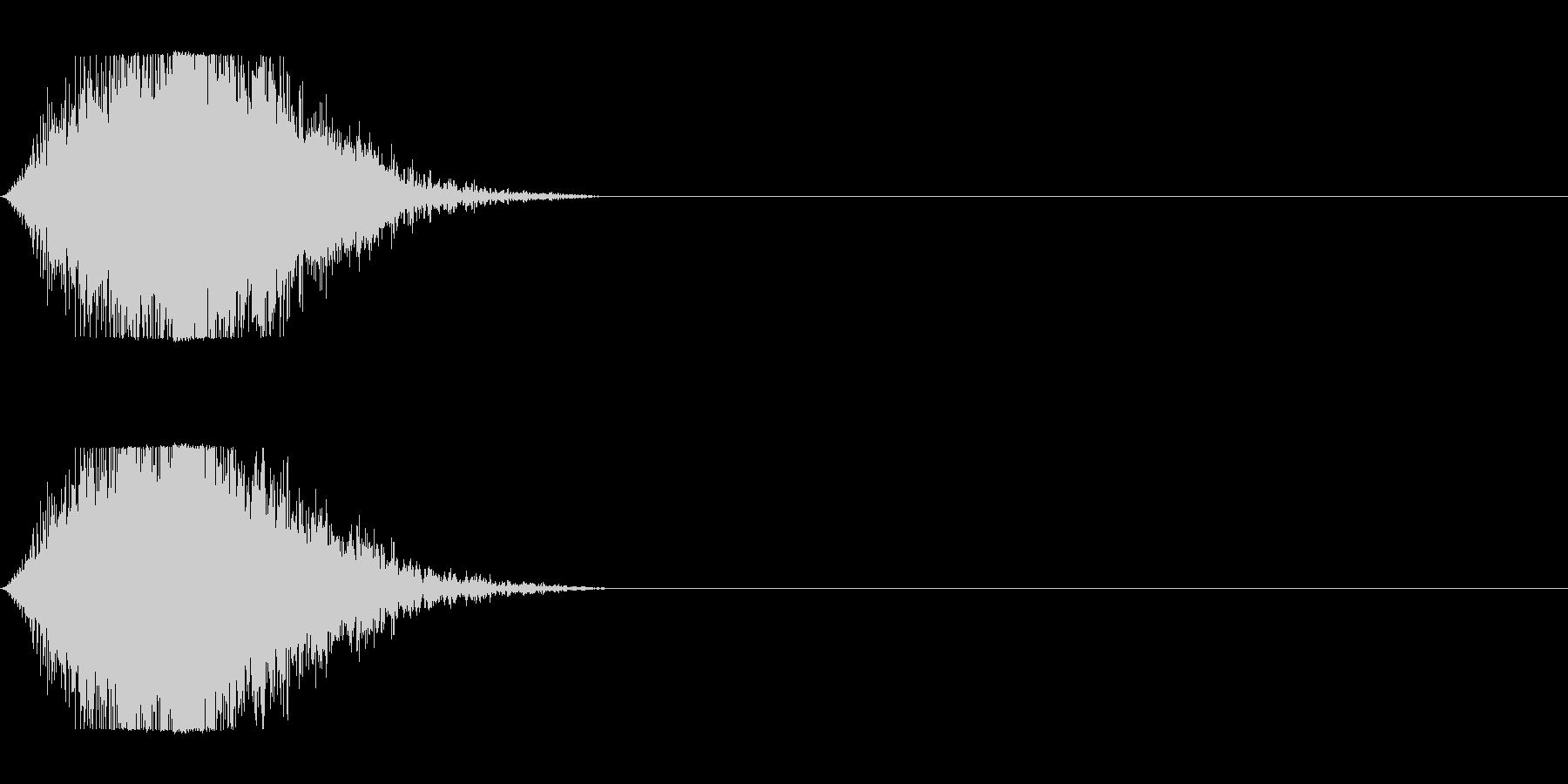 風で切り裂く音_2の未再生の波形