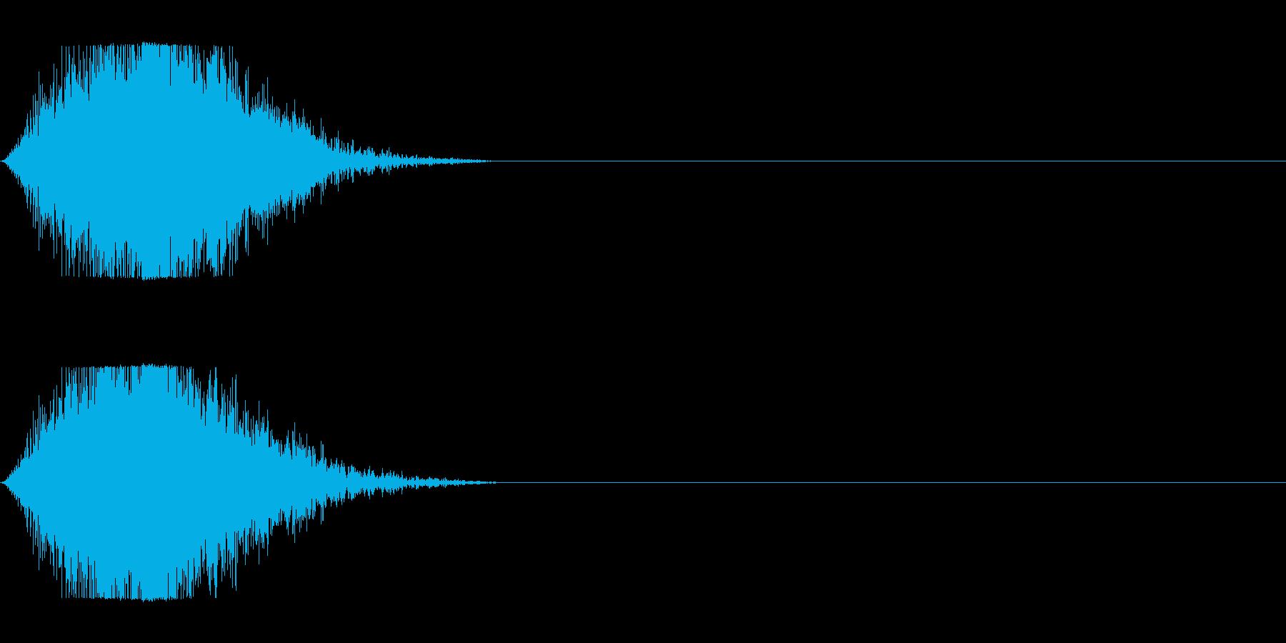 風で切り裂く音_2の再生済みの波形