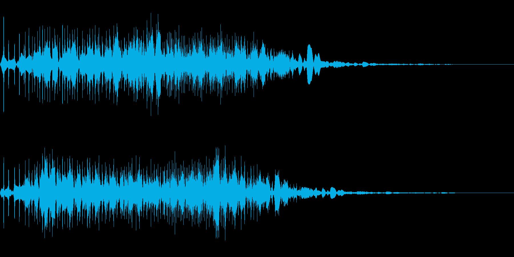 宇宙の虫と出会った時の音。の再生済みの波形