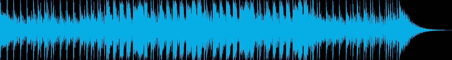 23秒 爽快なドラムと口笛の再生済みの波形