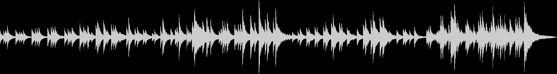 感動的なピアノバラード(優しい・別れ)の未再生の波形
