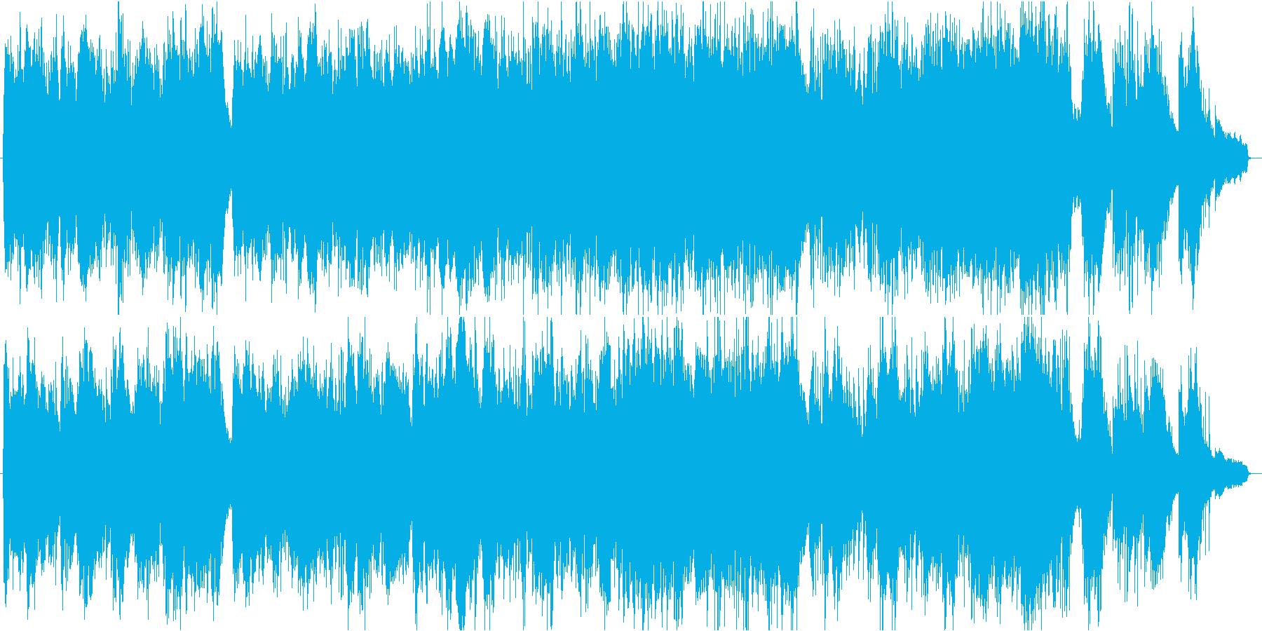帰り道の再生済みの波形