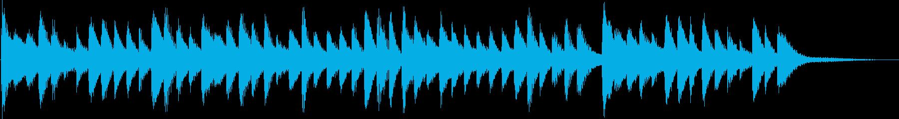 Refreshing and refreshing healing jingle's reproduced waveform