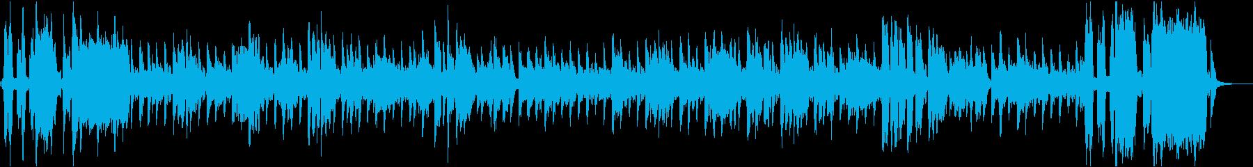 ネバネバの食品をテーマにした楽曲の再生済みの波形