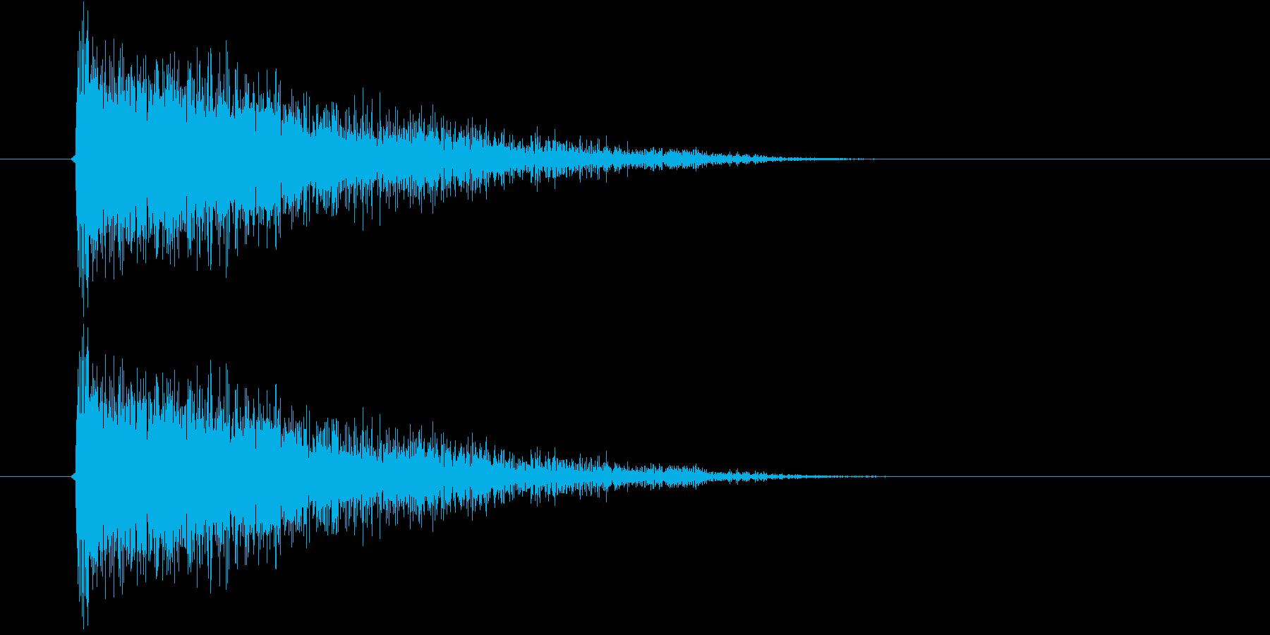 ジャーン(オーケストラのような決定音)の再生済みの波形