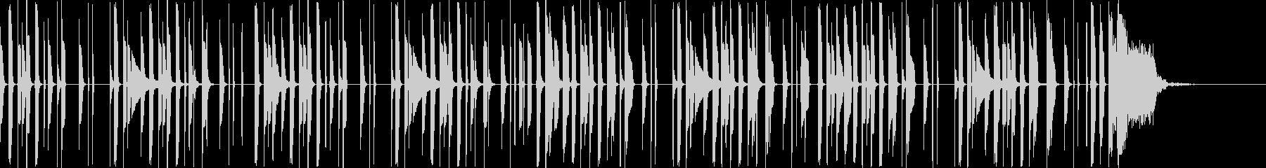 軽やかでシンプルなリズムのBGMの未再生の波形