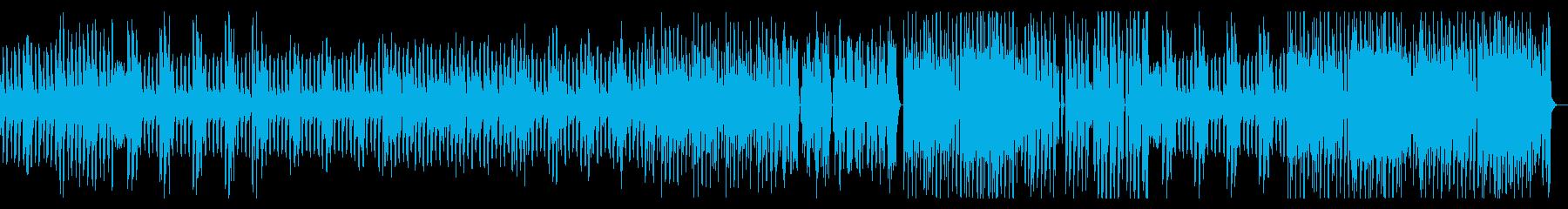 疾走感のあるテクノポップの再生済みの波形