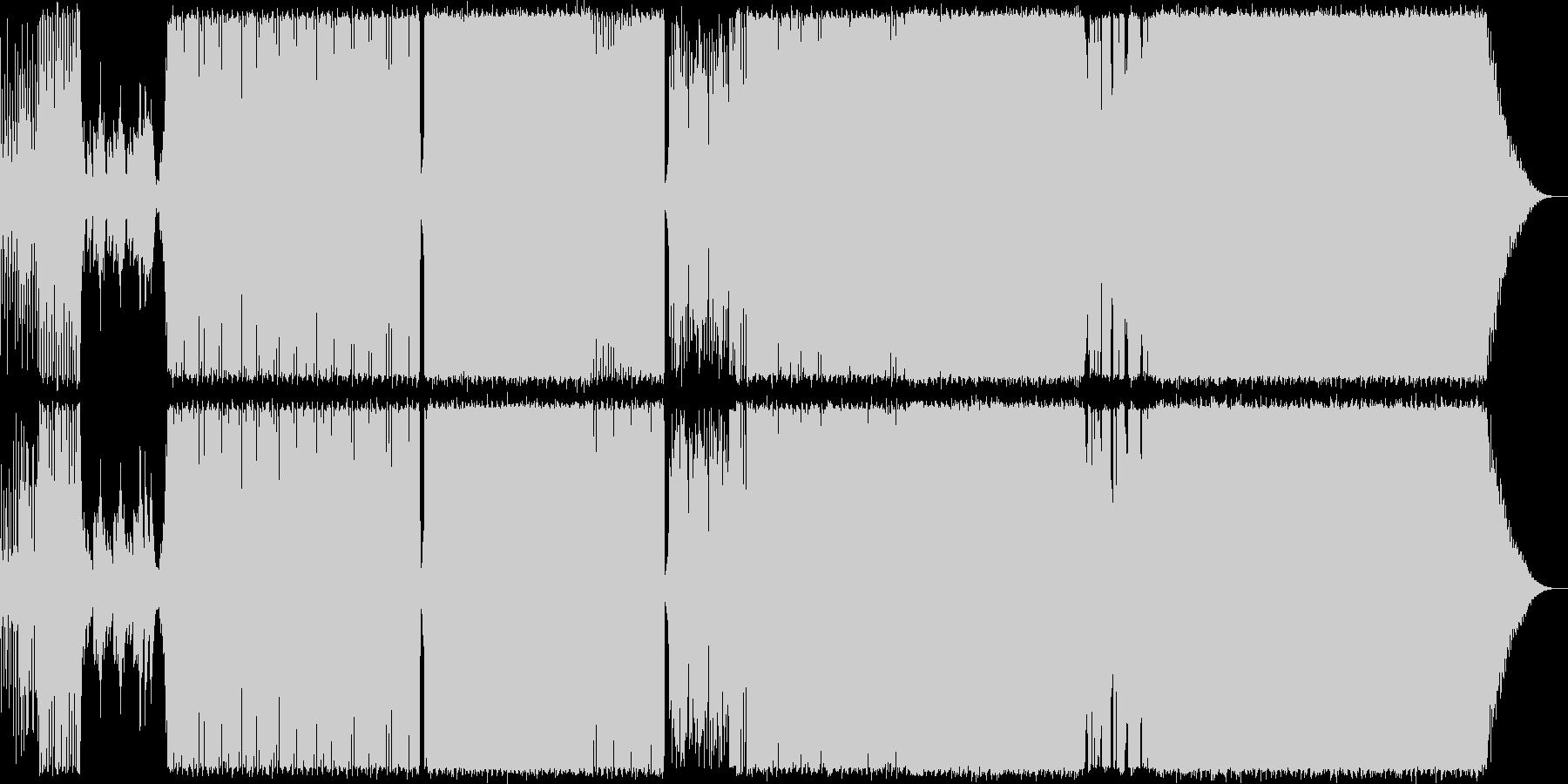 女のコが歌うポップで前向きなテクノポップの未再生の波形