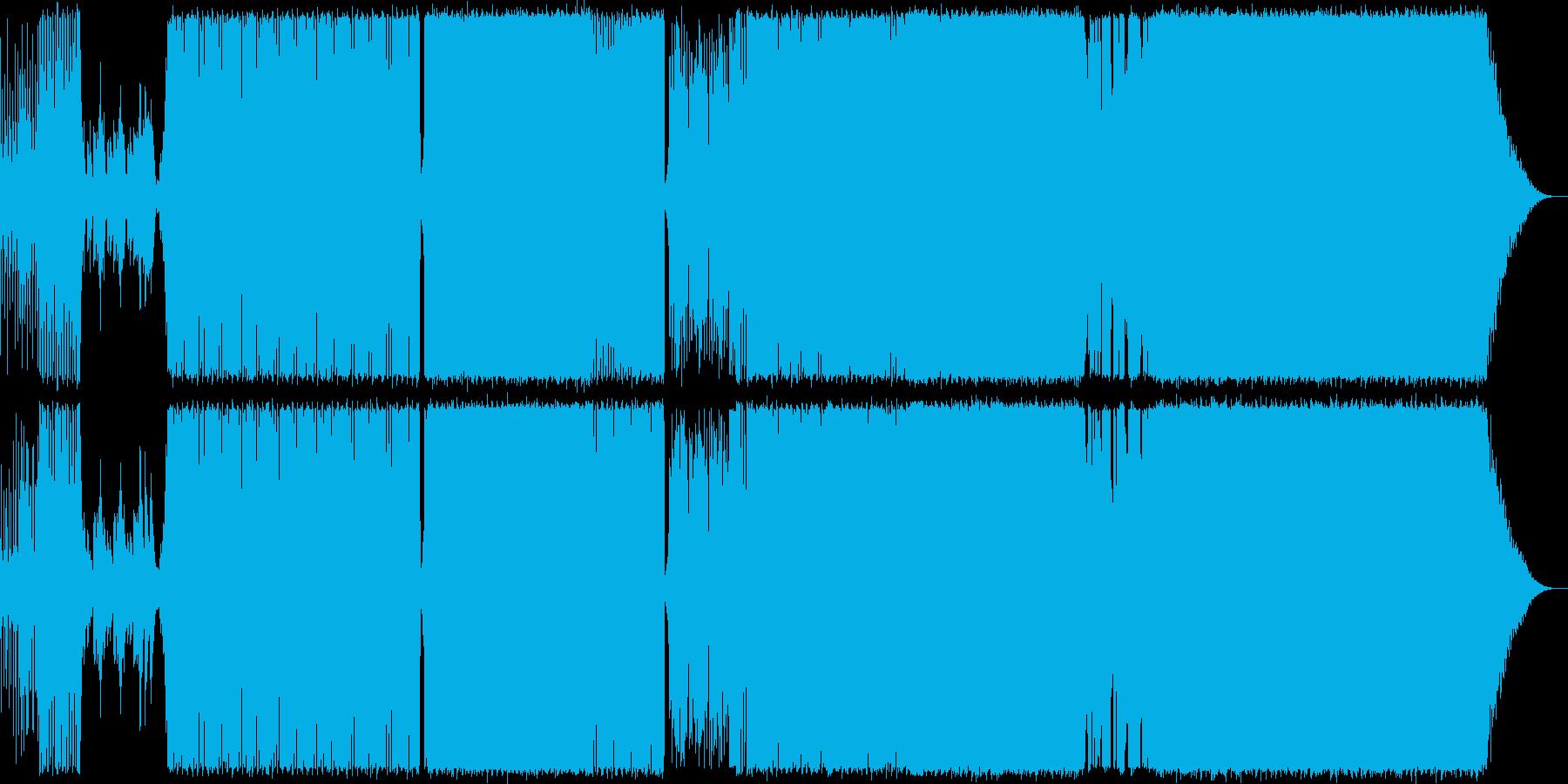 女のコが歌うポップで前向きなテクノポップの再生済みの波形