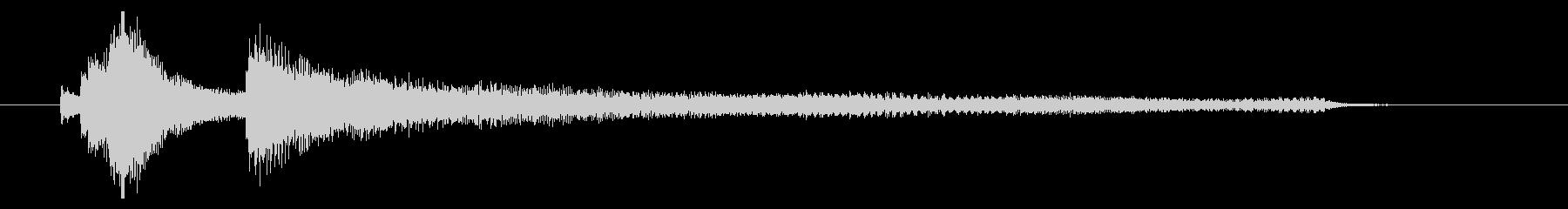 爽やかなイメージのサウンドロゴ(ピアノ)の未再生の波形
