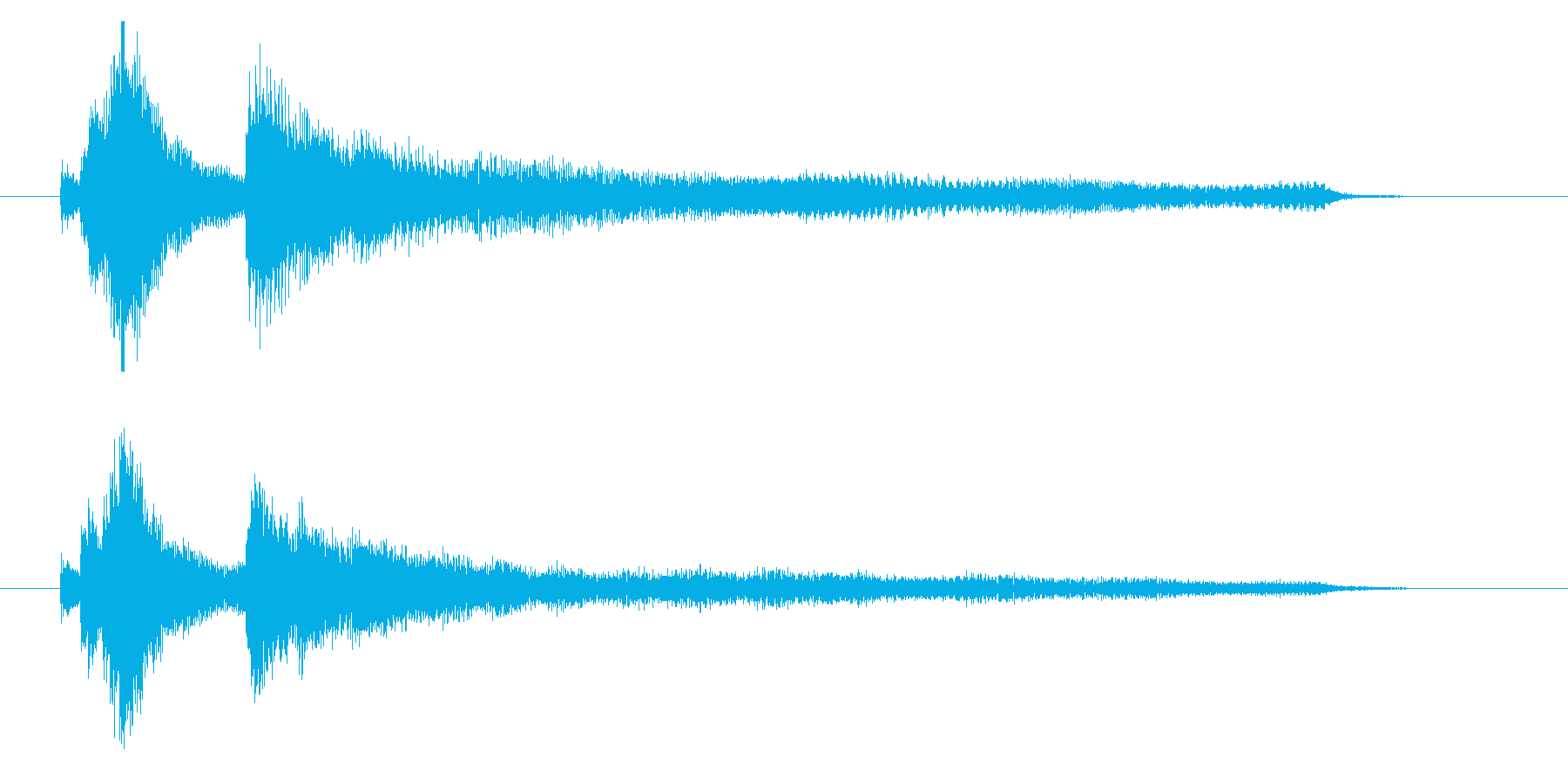 爽やかなイメージのサウンドロゴ(ピアノ)の再生済みの波形