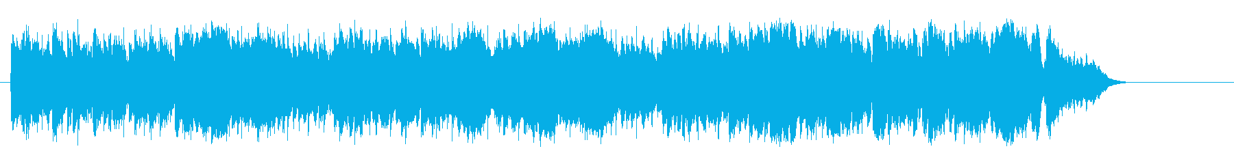 一息つく暖かなリゾート気分のボサノバの再生済みの波形