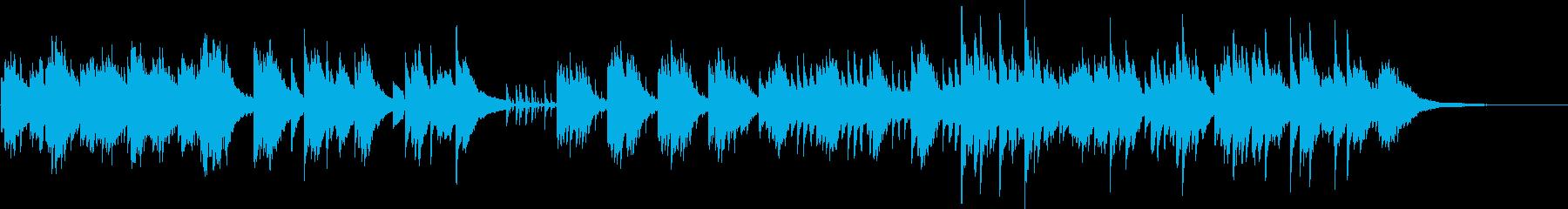ゆらめく 舞う  流れるイメージの再生済みの波形