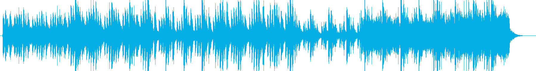 ホラー、サスペンス調のストリングス楽曲の再生済みの波形