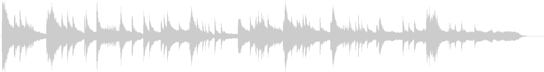 琴、ひちりき、太鼓、笙などを使った和風の未再生の波形