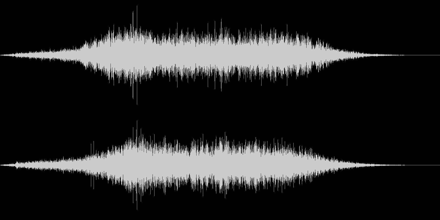 ホラー系アタック音36の未再生の波形