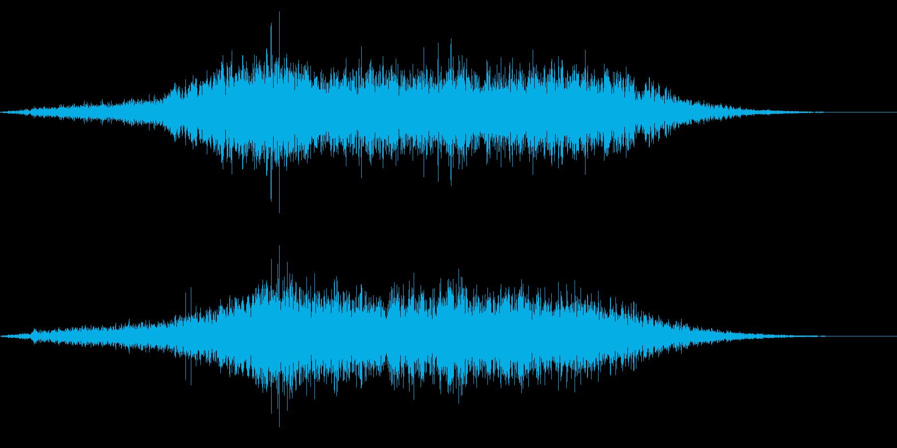 ホラー系アタック音36の再生済みの波形