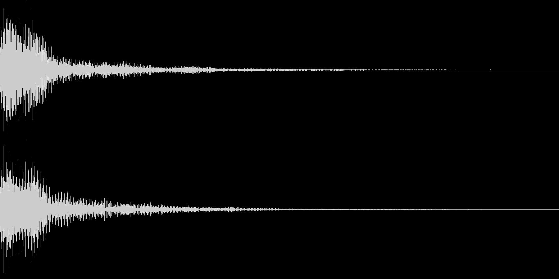 Moog ファットなコマンド音 4の未再生の波形