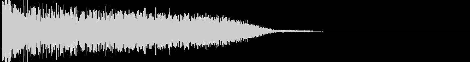 ワープ音04の未再生の波形