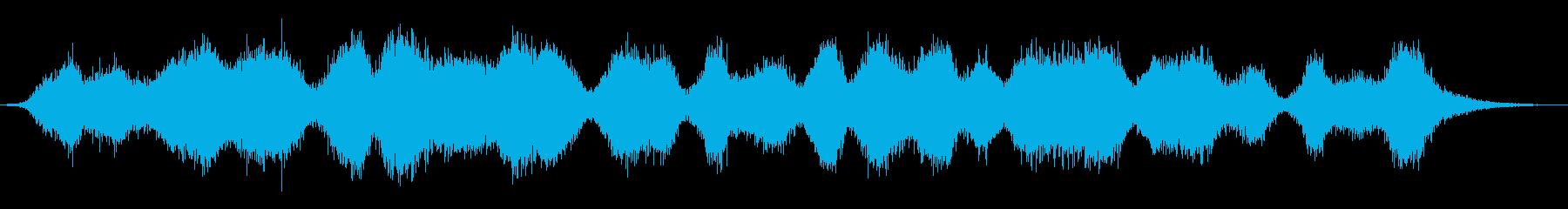 シミュレートされた雨の音:さまざま...の再生済みの波形