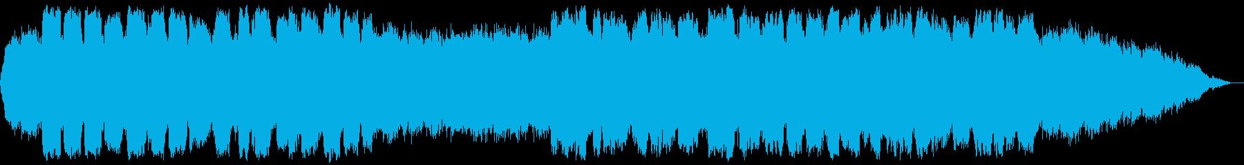 深呼吸をするような低音の笛の音楽の再生済みの波形